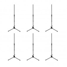 ELITE CORE LKS-TMS-MC - TRIPOD BASE STRAIGHT MIC STAND (PACKAGE OF 6)