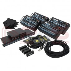 ELITE CORE PM-164PAK - PROFESSIONAL 16 CHANNEL PERSONAL MONITOR MIX SYSTEM (4 PACK)