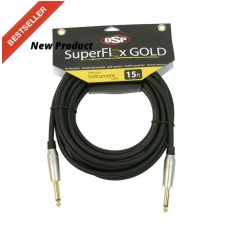 SUPERFLEX GOLD SFI-15SS -  PREMIUM - INSTRUMENT - CABLE (15FT )