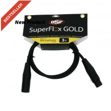 SUPER FLEX GOLD SFM-3 - PREMIUM MICROPHONE CABLE (3FT)