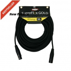 SUPER FLEX GOLD SFM-50 - PREMIUM MICROPHONE CABLE(50FT)