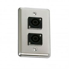 OSP D-2-SPEAKON- DUPLEX WALL PLATE W/2-SPEAKONS