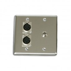 OSP Q-2-XLR-1-1/4 QUAD WALL PLATE WITH 2-XLR AND 1 1/4IN
