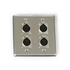 OSP Q-4-XLR - QUAD WALL PLATE WITH 4 XLR