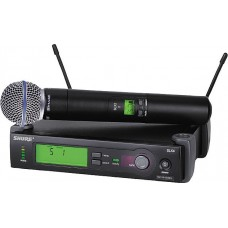 SHURE SLX24/BETA58 - HANDHELD SUPERCARDIOID DYNAMIC WIRELESS MIC SYSTEM