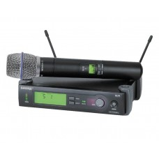 SHURE SLX24/BETA87 HANDHELD CONDENSER WIRELESS MIC SYSTEM