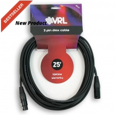 VRL VRLDMX3P25 - 3-PIN DMX CABLE (25FT )