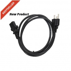 ELITE CORE AC-14-8 - 14 AWG UNIVERSAL POWER CORD - (NEMA 5-15P TO IEC320C13) (8FT)
