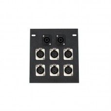 ELITE CORE FB6-SP - RECESSED FLOOR BOX WITH 6 XLRF + 2 SPEAKON