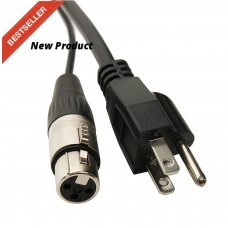 ELITE CORE PA25 - POWERED SPEAKER CABLE XLR+AC(25FT)