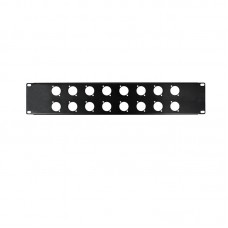 OSP HYC-39-16D - 2 SPACE RACK PANEL WITH 16 D HOLES