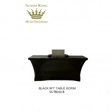 SCRIM-KING SS-TBL02 - B 6FT TABLE SCRIM CLOSED BACK (BLACK)