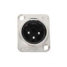 SEETRONIC  J3F2C - 3 PIN XLR MALE PANEL MOUNT - CONNECTOR