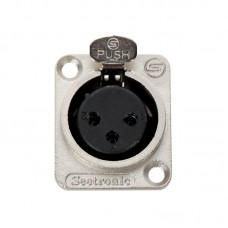 SEETRONIC  K3F2C - 3 PIN XLR FEMALE PANEL MOUNT - CONNECTOR