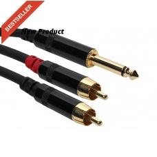 SUPER FLEX GOLD SFP-Y10RQ - Y PATCH CABLE, (2) RCA TO TS (10FT )