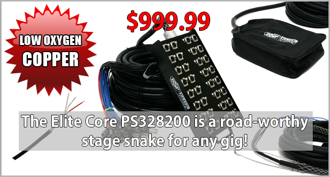 Elite Core PS328200 32 x 8 200ft Stage Snake