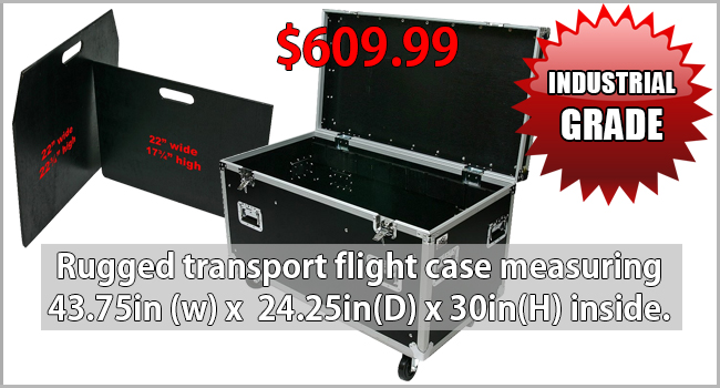 OSP TC4524-30 - TRANSPORT CASE WITH DIVIDERS AND TRAY(45IN