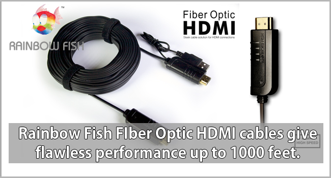 Rainbow Fish Fiber Optic HDMI Cables Promo